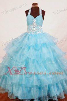 Appliques Little Girl Pageant Dresses