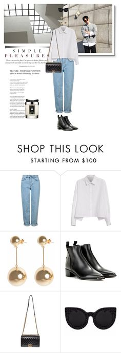 """casually"" by aleessarm ❤ liked on Polyvore featuring Topshop, Y's by Yohji Yamamoto, J.W. Anderson, Acne Studios, Delalle, Jo Malone, StreetStyle, Chanel, fashionblogger and acnestudios"