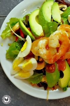 Grilled Shrimp Salad with Alice's Famous French Dressing