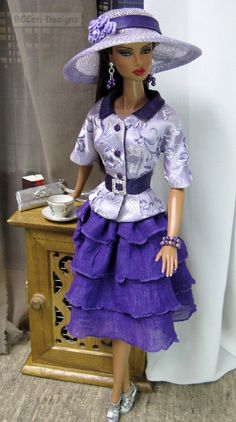 BCCan Designs OOAK outfit for Barbie Silkstone & Victorie Roux Fashion Royalty 202 b   by bccan designs
