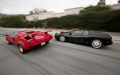 Lamborghini Countach VS Ferrari 512 TS ahh the 90s !