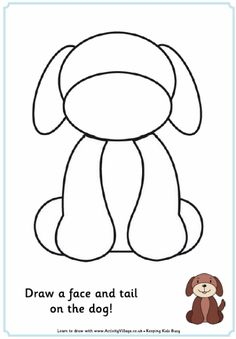 Complete the picture - dog. From activityvillage.co.uk