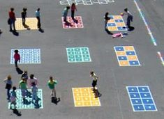 Peaceful Playground Games Teach Collaboration on the Playground Contributed by JC Boushh A new podca Playground Painting, Playground Games, Playground Design, Outdoor Playground, Children Playground, Modern Playground, Games For Kids, Activities For Kids, Recess Games