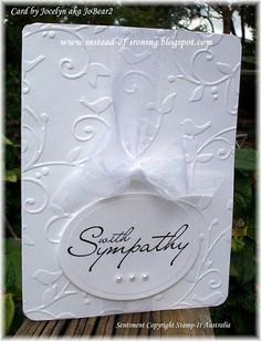 Cuttlebug Card Ideas | ... Ironing Blogspot: Cuttlebug: Birds and Swirls - my 2nd Sympathy Card