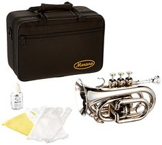 Merano+WD480SV-A+B+Flat+Nickel+Pocket+Trumpet+with+Case+and+Mouth+Piece,+Silver