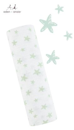 For your own little star, our classic cotton muslin green starfish swaddle is the comfiest and most breathable way to wrap up your baby.