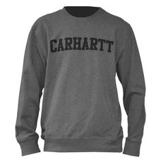 Carhartt College sweat crew dark grey heather black 59€ #carhartt #carharttwip #workinprogress #sweat #sweater #sweatcrew #crewneck #fleece #winter #pull #pullover #skate #skateboard #skateboarding #streetshop #skateshop @PLAY Skateshop