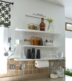 Down to Earth Style: Open Kitchen Shelves