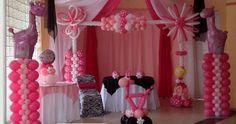 Pink Baby Shower Balloon Decoration