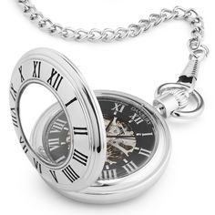 124ae4194 Personalized Open Face Pocket Watch (Demi-Hunter) , Add Your Message from  Things Remembered.