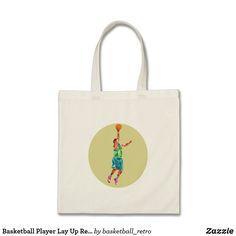 Basketball Player Lay Up Rebounding Ball Low Polyg Tote Bag