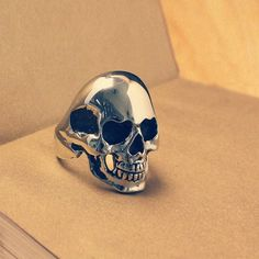 Vintage Skull 316 Titanium Steel Mens Ring