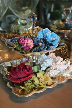 Vintage millinery...very pretty, do you think they could be made for today's hats or even accents for dresses and/or coats?