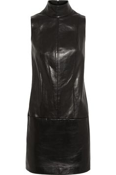 Mugler's black dress is versatile and sleek. Cut from buttery leather, it has a chic, high neckline to balance the thigh-skimming hem and is fully lined. Wear this piece with bare legs and heels now, adding a fine-knit sweater and tights come fall. Shop it now at NET-A-PORTER