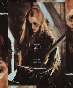 Sansa: and the wolf will die in his skin #got #asoiaf