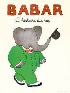 Babar the Elephant is a fictional character who first appeared in the French children's book Histoire de Babar by Jean de Brunhoff in and enjoyed immediate success. An English-language version, As Aventuras De Babar, Books To Read, My Books, Library Books, My Childhood Memories, 90s Childhood, Children's Literature, 90s Kids, Grafik Design