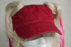 Crimson Red Pigtail Hat