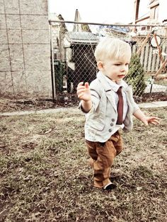 This is how I will dress my son. He'll be the most stylish kid :)