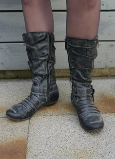 Kaufe meinen Artikel bei #Kleiderkreisel http://www.kleiderkreisel.de/damenschuhe/stiefel/137272334-herbstliche-stiefel-von-kangaroos-mit-kleinem-absatz-in-hubschem-schiefergrau