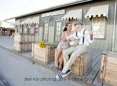 Styled engagement session Old Sacramento, California by Dee Kay Photography