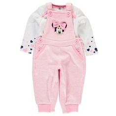 3c9822dc0 Disney Baby Minnie Mouse Dungarees Set Disney Baby Clothes, Disney Outfits,  Outfits Niños,