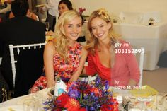 CHICHESTER, ENGLAND - 29 JULY 2010: Noelle Reno and Marissa Hermer attend the Ladies Day at Glorious Goodwood, at Goodwood Racecourse. Marissa wears ISSA dress.