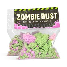 Zombie Dust - Kids love making their own bath bomb powder. Easy to make kit includes everything you need with complete instructions! Great Halloween craft project.