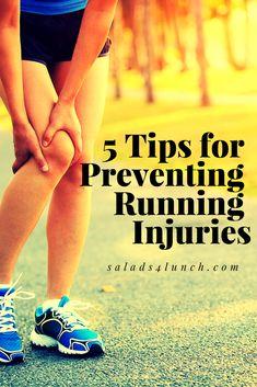 5 Tips for preventing running injuries #runningadvice #runningtips #injuryprevention
