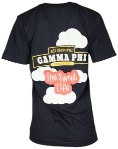 Gamma Phi Beta Ice Cream Sweet Life Tshirt by Adam Block Design | Custom Greek Apparel & Sorority Clothes | www.adamblockdesign.com