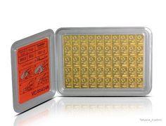 Специальные виды слитков:   Стандартные банковские слитки Слитки ChipGold напоминают кредитную карточку, их вес составляет от 1 до 20 граммов. ChipGold продаются в запечатанной и сертифицированной упаковке. Слитки Kinebar содержат специальную кинеграмму, которая используется в качестве защитного элемента и одновременного создаёт визуальную привлекательность. Кинеграмма (Kinegram) представляет собой металлизированный элемент с эффектом движущегося трёхмерного рисунка, впрессованный в золотой…