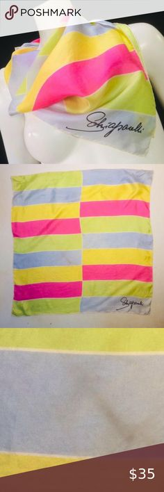 I just added this listing on Poshmark: Elsa Schiaparelli Large Silk Geometric Scarf. #shopmycloset #poshmark #fashion #shopping #style #forsale #Elsa Schiaparelli #Accessories Vintage Chic Fashion, Boho Fashion, Women Accessories, Fashion Accessories, Elsa Schiaparelli, Turquoise Color, Scarf Wrap, Pink Blue, Scarves