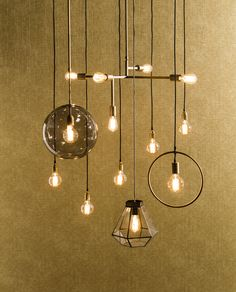 City Loft, messing hanglampen, rookglas | brass hanging lamps, smoke glass
