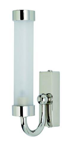 W6-019 - Slim Halogen Bathroom Light, (shown in polished chrome)