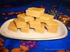 Sailaja Kitchen...A site for all food lovers!: Badam Mysore Pak / Almond Mysore Paak
