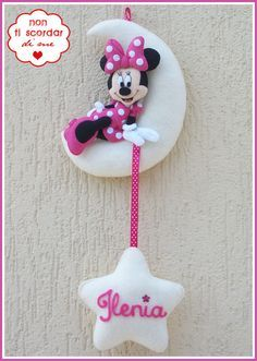 Annuncio fiocco nascita Topolina Minnie, by Non ti scordar di me ♥, 30,00 € su misshobby.com