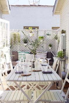 Whitney Leigh Morris Welcomes Us To Small Spaces, Balcony Decor, Home, Little Cottage, Porch Styles, Backyard Landscaping Designs, Outdoor Living Space, Backyard Living, Comfy Decor