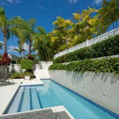 piscina pequeña en el jardín tropical