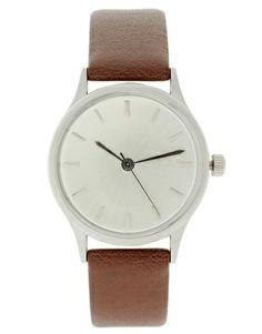 ASOS Brushed Silver Grandad Watch