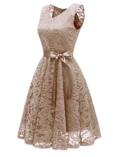 354964d09 1950s Lace Floral Bow Dress – Retro Stage - Chic Vintage Dresses and  Accessories Floral Bridesmaid