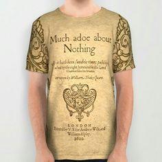 "BIBLIO TEE* ""Shakespeare"" All Over Print T Shirt"