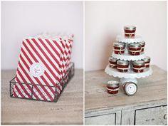 strawberry birthday party: mini jars of strawberry jam {TomKat Studio}