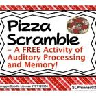 I hope you enjoy this fun 10 slide freebie. It is an auditory processing, sequencing, and memory activity where students act as customers, servers, cooks, and supervisors in a pizza shop. The customer orders from a menu and the server must recall the order and express it to the cook. The cook must recall the order and assemble the pizza. The supervisor provides cues as needed.