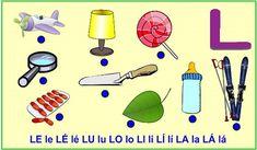 ABECEDA PÍSMENO L Baby List, Montessori, Alphabet, Education, Reading, Speech Language Therapy, Alpha Bet, Word Reading, Educational Illustrations