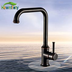 Contemporary Oil Rubbed Bronze Basin Faucet Swivel Spout Deck Mounted Single Handle One Hole Tap