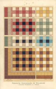 Ceramic tile patterns from a 1928 catalog by Douzies-Maubeuge. Old Bathrooms, Dream Bathrooms, Modern Bathrooms, Antique Tiles, Vintage Tile, Patio Flooring, Kitchen Flooring, Floor Patterns, Tile Patterns