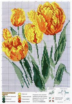 Cross Stitch | Tulips xstitch |