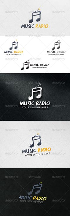 Music Radio  Logo Template — Vector EPS #web radio #radio logo • Available here → https://graphicriver.net/item/music-radio-logo-template/6661898?ref=pxcr