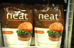 Neat is a healthy replacement for meat with only eight that is soy and gluten free!