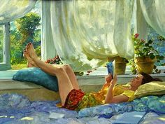 Reading and Art / David Hettinger... now this is reading