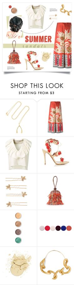 """""""Cute Summer Sandals"""" by grrr8style ❤ liked on Polyvore featuring Jennifer Meyer Jewelry, Etro, Chloé, Tabitha Simmons, Accessorize, Tory Burch, Terre Mère, Nails Inc., Annelise Michelson and summersandals"""